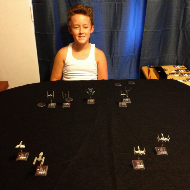 X-Wing 9-ship battle